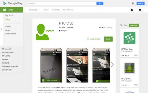 Screenshot of Android App Page google.com - HTC Club - Android Apps on Google Play - captured Nov. 26, 2015
