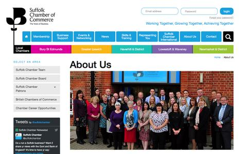 Screenshot of About Page suffolkchamber.co.uk - About Us - Suffolk Chamber of Commerce - captured Nov. 14, 2016