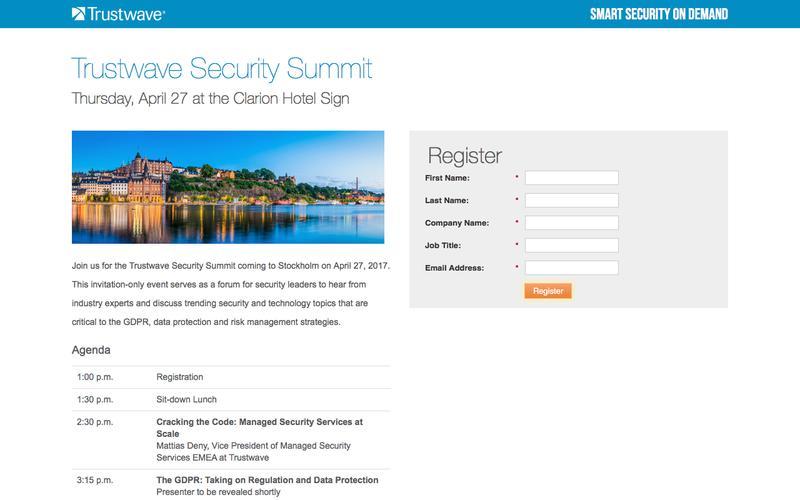 Trustwave Security Summit Stockholm