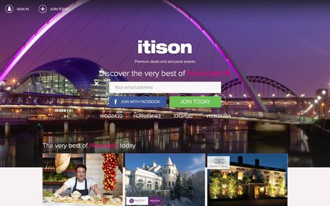 Screenshot of Home Page itison.com - itison: Officially Scotland's Favourite Daily Deals and Events Site - captured Jan. 9, 2016