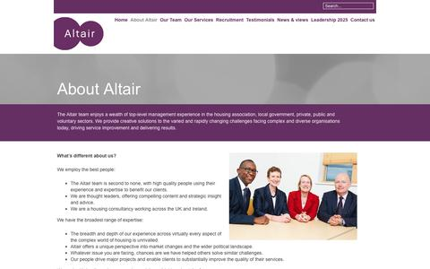 Screenshot of About Page altairltd.co.uk - About Altair - Altair - captured May 29, 2017