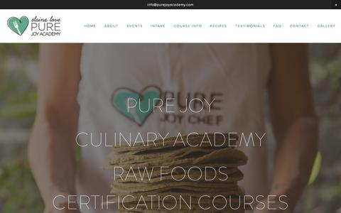 Screenshot of FAQ Page purejoyacademy.com - PURE JOY CULINARY ACADEMY - captured Oct. 3, 2014