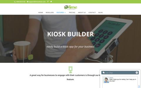 Kiosk Builder | Lime Cellular