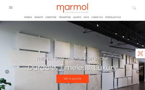 Screenshot of Home Page marmol.com - Home - captured Nov. 15, 2018