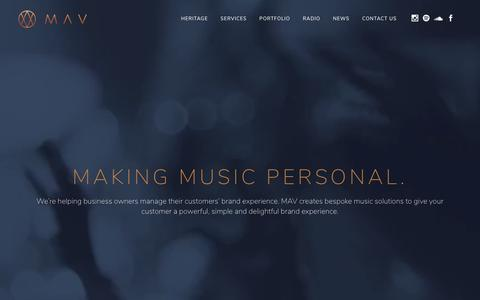 Screenshot of Case Studies Page mavmusic.co.uk - Portfolio | Mav Music Supervision | Bespoke music supervision for premium brands - captured Nov. 11, 2018