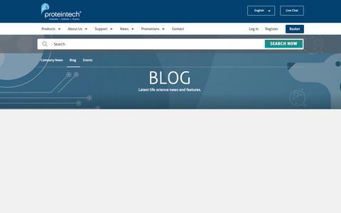 Screenshot of Blog ptglab.com - Blog   Proteintech Group - captured May 24, 2019