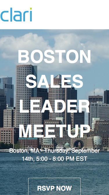 Boston Sales Leader Meetup