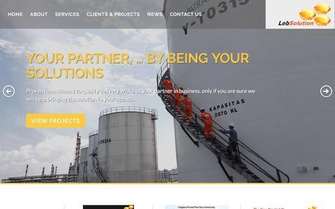 Screenshot of Home Page lebsolution.com - LebSolution - captured Nov. 5, 2016