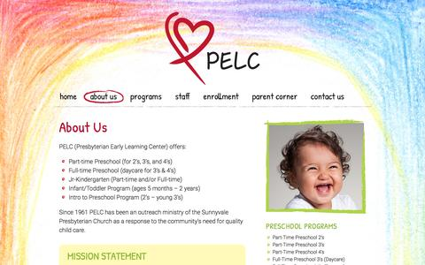 Screenshot of About Page pelc.us - About Us | Presbyterian Early Learning Center - captured Nov. 9, 2016