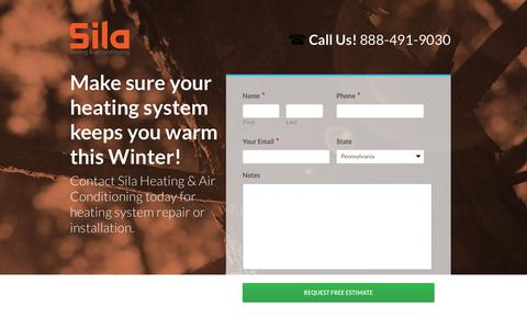 Screenshot of Landing Page sila.com - Sila Heating Installation & Repair - captured Oct. 19, 2016