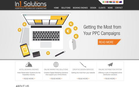 Screenshot of About Page in1solutions.com - Hotel Technology Solutions, Online Marketing Solutions Hotels | In1 Solutions - captured Nov. 6, 2018