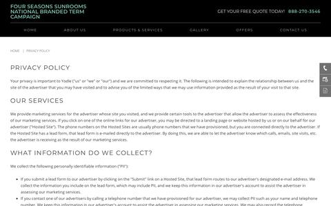 Privacy Policy | holbrook | Four Seasons Sunrooms National Branded Term Campaign