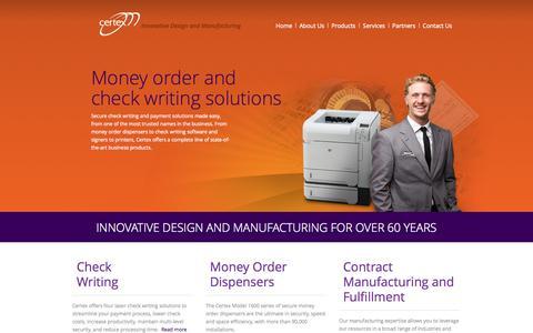 Screenshot of Home Page certexco.com - Certex - captured Jan. 26, 2015