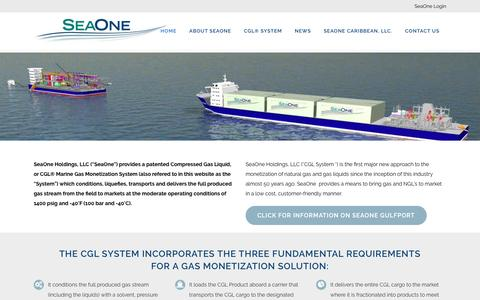 """Screenshot of Home Page seaonecorp.com - SeaOne 
