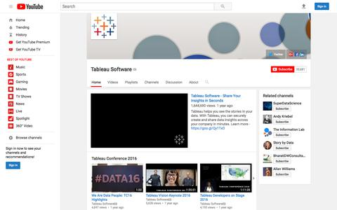 Tableau Software  - YouTube