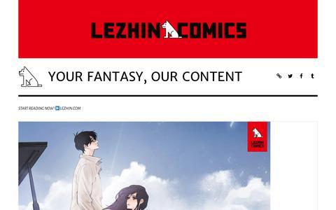 Screenshot of Blog lezhin.com - YOUR FANTASY, OUR CONTENT – START READING NOW! ▶LEZHIN.COM - captured Sept. 23, 2018