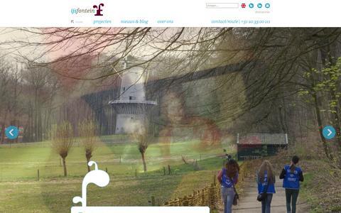 Screenshot of Home Page ijsfontein.nl - home | IJsfontein | Serious gaming, interactieve communicatie en educatie - captured Sept. 30, 2014