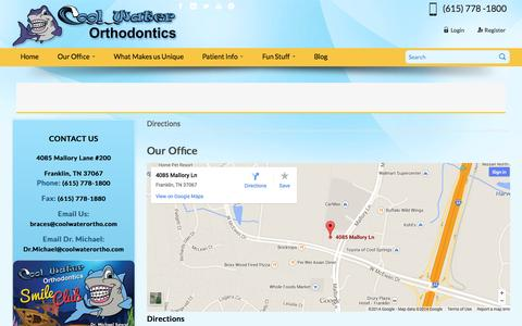 Screenshot of Maps & Directions Page coolwaterortho.com - Cool Water Orthodontics  - Cool Water Orthodontics - captured Nov. 2, 2014