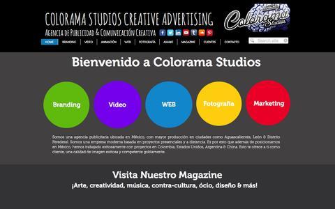 Screenshot of Home Page colorama-studios.com - Colorama | Agencia de Publicidad & Diseño | Comunicación Creativa | - captured Sept. 30, 2014