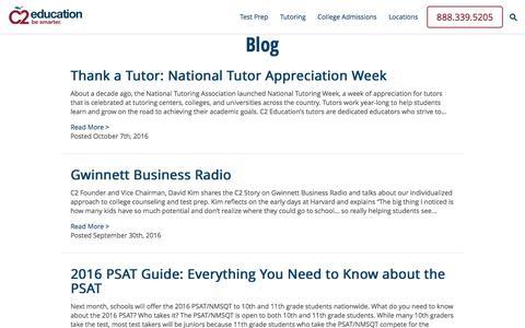 Screenshot of Blog c2educate.com - Blog | C2 Education | C2 Education - captured Oct. 10, 2016
