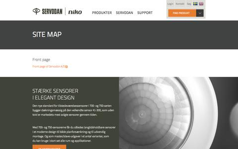 Screenshot of Site Map Page servodan.dk - Site map | Servodan A/S - captured Aug. 16, 2015