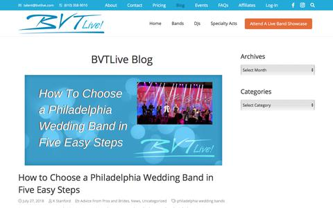 Screenshot of Blog bvtlive.com - BVT Blog - BVTLive! - captured Aug. 1, 2018