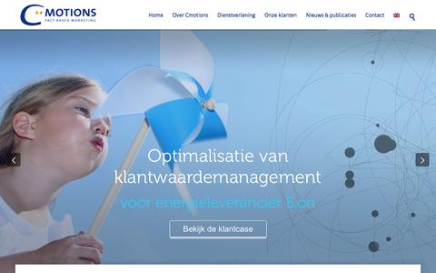 Screenshot of Home Page cmotions.nl - Home - Cmotions - captured Dec. 9, 2015
