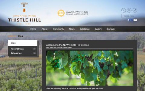 Screenshot of Press Page thistlehill.com.au - Blog - captured Feb. 29, 2016