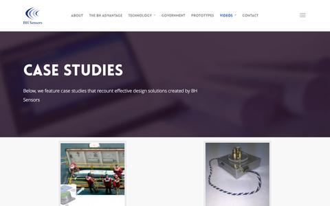 Screenshot of Case Studies Page bhsensors.com - Case Studies | BH SENSORS - captured May 31, 2017
