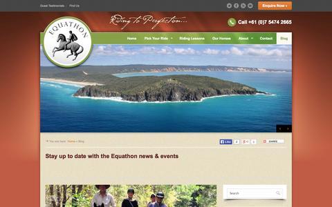 Screenshot of Blog equathon.com - Equathon, News, Events, Articles and Timetable | Equathon - captured Oct. 8, 2014