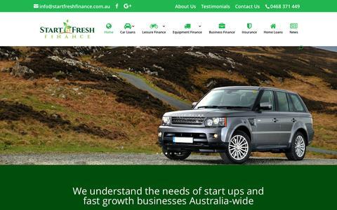 Screenshot of Home Page startfreshfinance.com.au - Home - Start Fresh Finance - captured Dec. 17, 2016