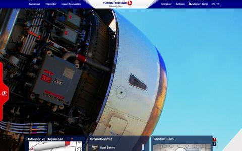 Screenshot of Home Page thyteknik.com - Turkish Technic - captured Sept. 22, 2014