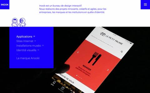 Screenshot of Home Page inook.com - Inook, bureau de design interactif - captured Dec. 10, 2018
