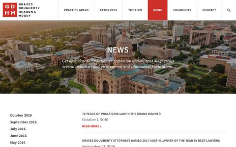 Screenshot of Press Page gdhm.com - News - Graves Dougherty Hearon & Moody - captured Nov. 13, 2016