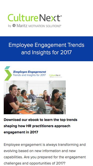 Employee Engagement Trends and Insights for 2017