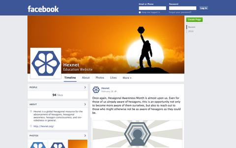 Screenshot of Facebook Page facebook.com - Hexnet | Facebook - captured Oct. 22, 2014