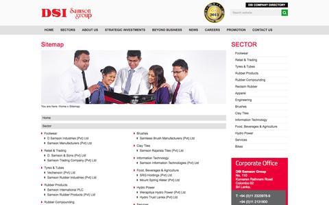 Screenshot of Site Map Page dsi.lk - Sitemap | DSI Samson Group - captured Nov. 3, 2014