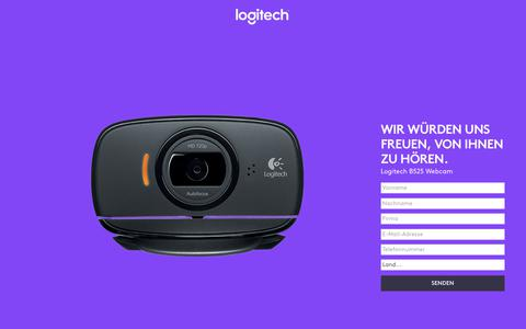 Screenshot of Landing Page logitech.com - Logitech B525 Webcam | Contact Us - captured July 23, 2017