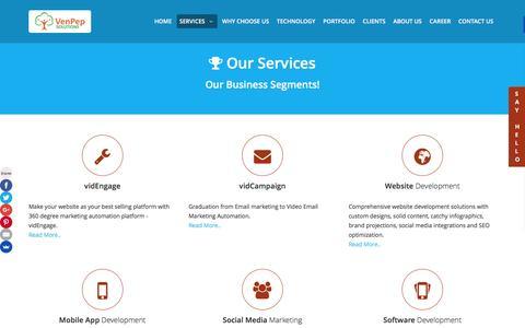 Screenshot of Services Page venpep.com - VenPep - captured Feb. 10, 2016