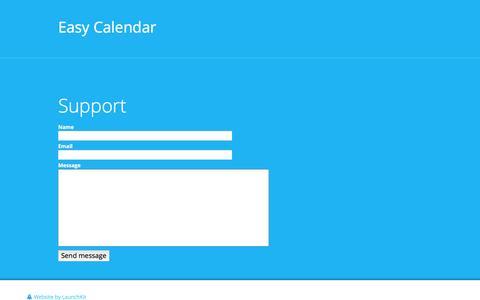 Screenshot of Support Page easy-calendar.com - Easy Calendar - - captured May 14, 2017