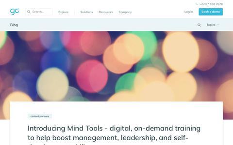Screenshot of Blog go1.com - GO1 Blog - captured Feb. 23, 2020