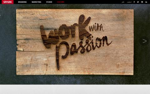 Screenshot of Jobs Page spark.us - SPARK | Work With Passion | National Advertising Agency - captured Sept. 30, 2014