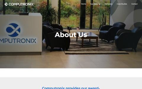 Screenshot of About Page computronix.com - About Us   Software Solutions Since 1979   Computronix Computronix - captured July 20, 2018