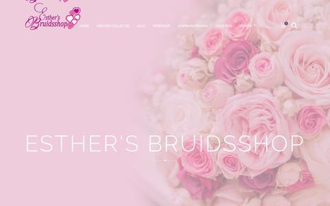 Screenshot of Contact Page bruidsshop.nl - Contact - Esther's Bruidsshop - captured Sept. 29, 2018