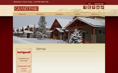 Screenshot of Site Map Page grandparkco.com - Sitemap | Grand Park - captured Oct. 3, 2014