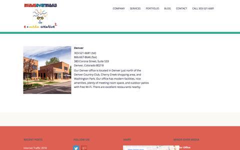 Screenshot of Locations Page mindsovermedia.com - Locations | Web Design, Development & SEO Denver | Ad Agency - captured Sept. 21, 2018