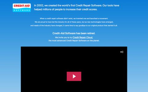 Screenshot of Home Page credit-aid.com - Credit Repair Software from Credit-Aid | Seen on CNN | FREE Demo! - captured Sept. 25, 2019