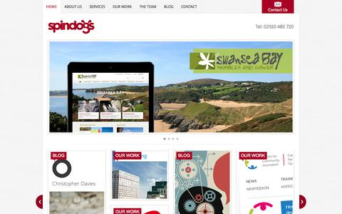Screenshot of Home Page Privacy Page spindogs.co.uk - Web Design Cardiff | Spindogs Website Design, Development & Online Marketing Agency - captured Oct. 1, 2014