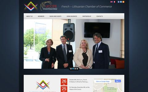 Screenshot of Home Page cci-fr.lt - French – Lithuanian Chamber of Commerce | French – Lithuanian Chamber of Commerce - captured Oct. 2, 2014