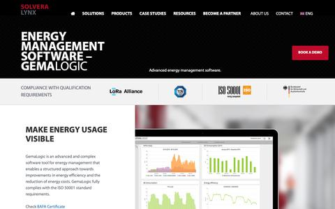 Screenshot of Products Page solvera-lynx.com - Energy management software - GemaLogic | Solvera Lynx - captured Oct. 20, 2018